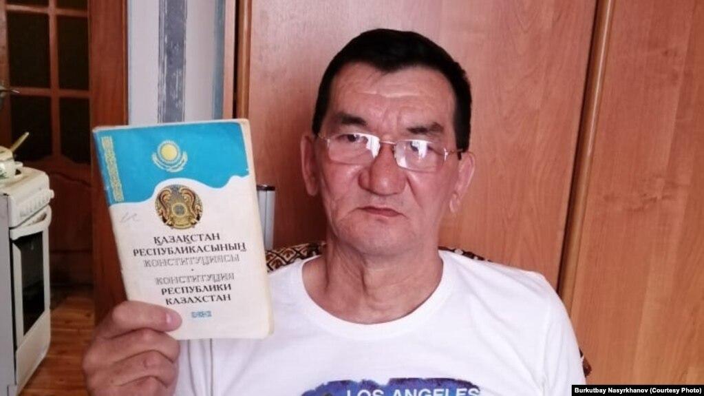 Житель города Сатпаева Буркутбай Насырханов, которого обвинили в участии в движениях «Демократический выбор Казахстана» (ДВК) и «Көше партиясы».