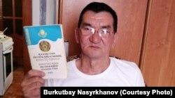 Житель города Сатпаев Буркутбай Насырханов, обвиняемый в участии в движениях «Демократический выбор Казахстана» (ДВК) и «Көше партиясы».