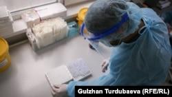 Сотрудник лаборатории в Бишкеке. Иллюстративное фото.