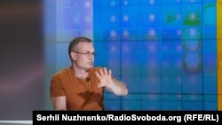 Сергій Гармаш – у студії Радіо Свобода під час Суботнього інтерв'ю