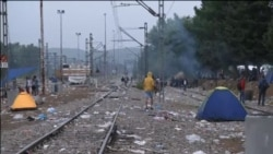 Šatori i hladnoća na makedonsko-grčkoj granici