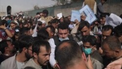 Desperate Crowds Swell At Kabul Airport