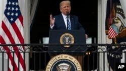 Президент США Дональд Трамп виступає у Білому домі – вперше після повернення лікарні