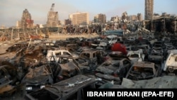 Бейрут после взрывов, Ливан. 5 августа 2020 года.