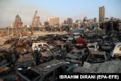 Наслідки вибуху у Бейруті. 4 серпня 2020 року