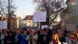 Protest radnika u Banjaluci