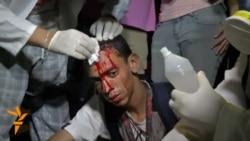 World Cup Protesters Damage TV Studio In Rio