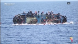 The Moment A Migrant Boat Capsized