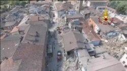 Amatrice: Pogled iz zraka nakon razornog potresa