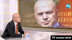 Петър Илиев в студиото на Нова телевизия. Снимката е архивна.