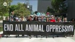 В Лос-Анджелесе прошел марш за права животных