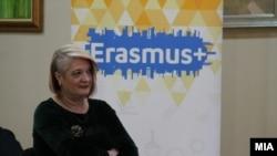"""Поранешната директорка на Националната агенција за европски образовни програми и мобилност """"Еразмуз+"""", Лидија Димова"""