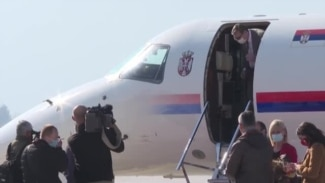 Serbia's President Arrives In Bosnia With COVID-19 Vaccine Donation (CLEAN)