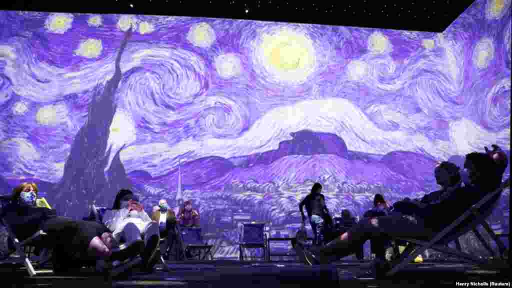 Van Gogh művei 360 fokos animált montázsban kelnek életre Londonban