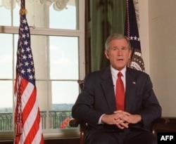 Președintele George W. Bush a anunțat în 7 octombrie 2001 că forțele SUA au început bombardarea Afganistanului
