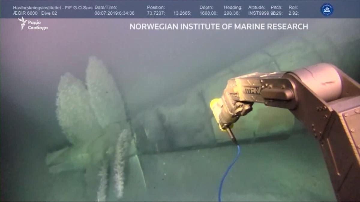 Норвегия заявила о превышении уровня радиации у затонувшей подводной лодки СССР – видео