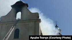 Пажар у Будслаўскім касьцёле