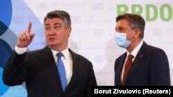 Претседателите на Словенија и на Хрватска Борут Пахор и Зоран Милановиќ