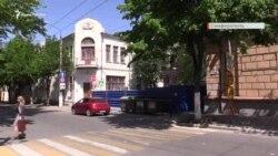 Забор в центре Симферополя. Вторая очередь реконструкции на Пушкина (видео)