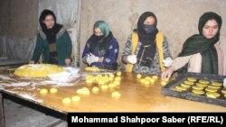 یک کارخانه شیرینی پزی زنان در ولایت جوزجان