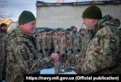Українські морські піхотинці в зоні ООС. 28 грудня 2020 року