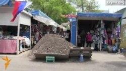 В Симферополе торговцы не хотят уходить со своих мест