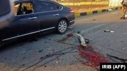 تصویری از خودروی محسن فخریزاده پس از عملیاتی که منجر به مرگ وی شد