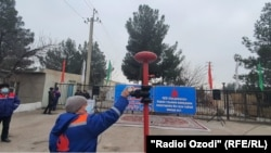 Церемония, посвященная возобновлению подачи узбекского газа, в местечке Чашмаи Арзана города Худжанд