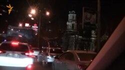"""Автопробег """"За единую Украину"""" в Донецке"""