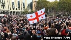 Акция у здания парламента, 1 ноября