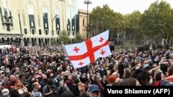 Tbilisidə etiraz aksiyası, 1 noyabr, 2020-ci il