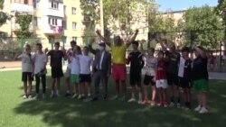 Teren de sport reconstruit la Tiraspol cu sprijinul Uniunii Europene