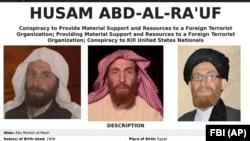 An FBI poster featuring Husam Abd-al-Ra'uf, also known as Abu Muhsin al-Masri, the No. 2 figure in the Al-Qaeda terrorist network who was killed recently.