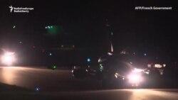 Bombardiere franceze decolînd înaintea atacurilor aeriene din Siria.