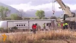 Испанияда ичида чет эллик талабалар бўлган автобус ҳалокатга учради