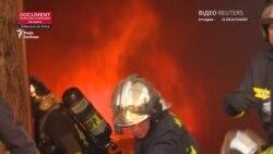 Нове відео, яке оприлюднили паризькі пожежники, показало розпал пожежі у Нотр-Дамі