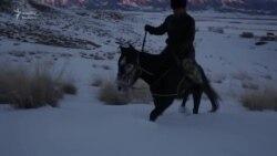 Məktəbə aparan uzun, qarlı, təpəli yol...