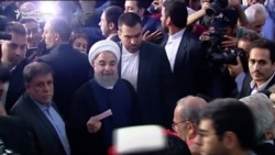 Rohani, Raisi Cast Ballots In Iranian Presidential Election