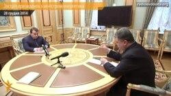 Poroşenko energetika naziri ile elektrik energiyasını kesüv meselesini muzakere etti