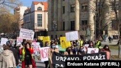 Marš žena u Banjaluci - 8. marta 2021.