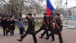 В Севастополе «беркутовцев» поздравляли с 5-летием «возвращения» из Киева (видео)