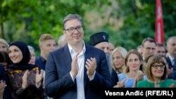 Krivnju za neotvaranje poglavlja na putu ka EU predsednik Srbije Aleksandar Vučić (na fotografiji) prebacuje na Evropsku uniju (4. jul 2021.)