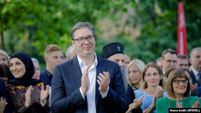 """Aleksandar Vučić se """"zalaže slobodu govora i drugačijeg mišljenja"""" (na fotografiji, 2. jul 2021.)"""