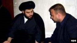 سلام المالكي مع مقتدى الصدر