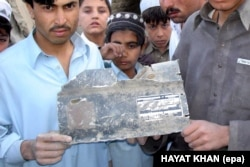 A photo by Hayatullah Khan positively identified U.S. missile shrapnel from a drone attack that killed an Al-Qaeda leader in North Waziristan.