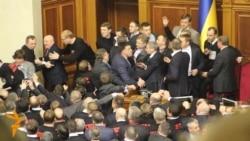 Brawl Breaks Out In Ukraine's Parliament