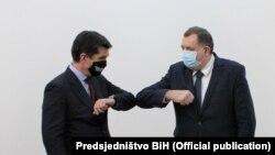 Eric Nelson i Milorad Dodik, Sarajevo (4. februar 2021.)