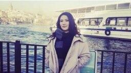 Turkmen activist Dursoltan Taganova in Istanbul, Turkey. (file photo)