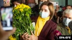 Maia Sandu won 57 percent of the vote in Moldova's presidential runoff on November 15.