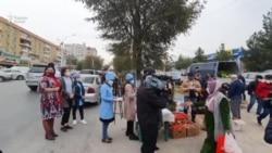 В Худжанде жителей призывают соблюдать осторожность на избирательных участках, чтобы не заразиться COVID-19